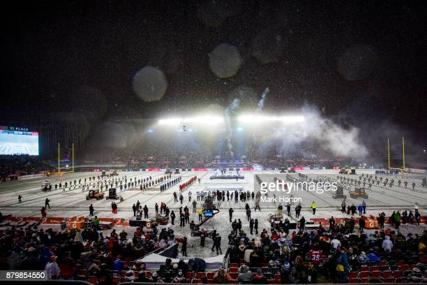 SonReal performs during pregame ceremonies at the 105th Grey Cup Championship Game between the Toronto Argonauts and the Calgary Stampeders at TD...