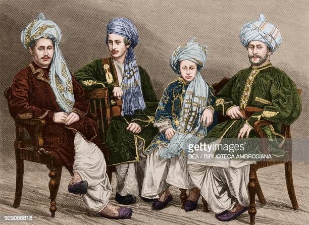 Sons of Nowroz Khan of Lal Pur Afghanistan Second AngloAfghan War illustration from the magazine The Graphic volume XIX no 497 June 7 1879 Digitally...