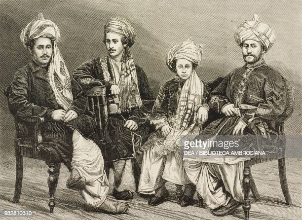 Sons of Nowroz Khan of Lal Pur Afghanistan Second AngloAfghan War illustration from the magazine The Graphic volume XIX no 497 June 7 1879