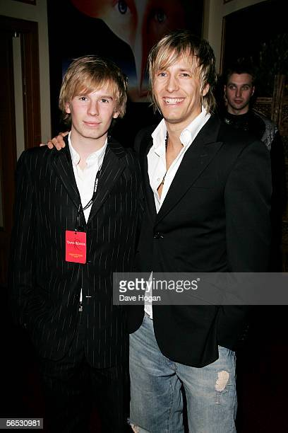 Sons of Status Quo guitarist Rick Parfitt Harry and Rick Jr attend the interval drinks party during the new Cirque Du Soleil production Alegria at...