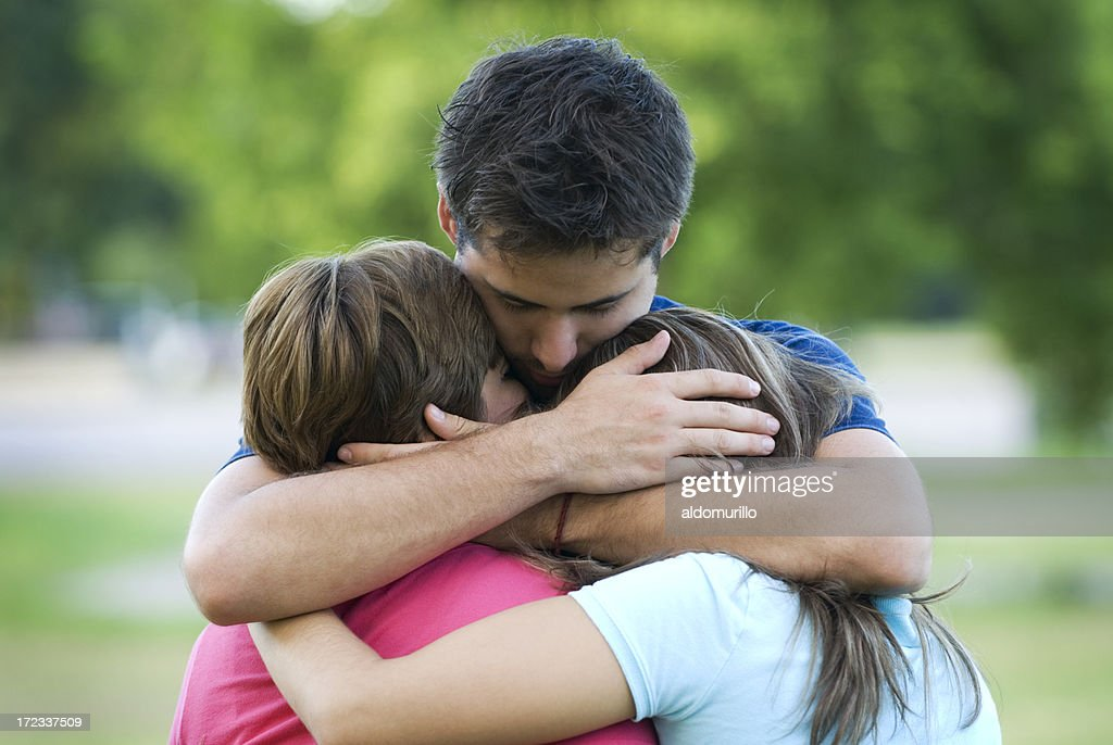 Son's protection : Stock Photo