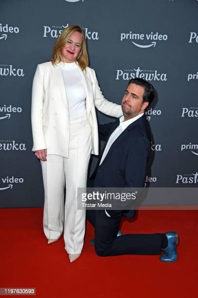 "Sonsee Neu and Bastian Pastewka attend the premiere of the 10th season ""Pastewka"" at Zoo Palast on January 30, 2020 in Berlin, Germany."