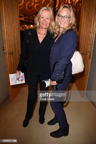 Sonsee Neu and Claudia Rieschel attend the 'Willkommen bei den Hartmanns' theater premiere on September 23, 2018 in Berlin, Germany.