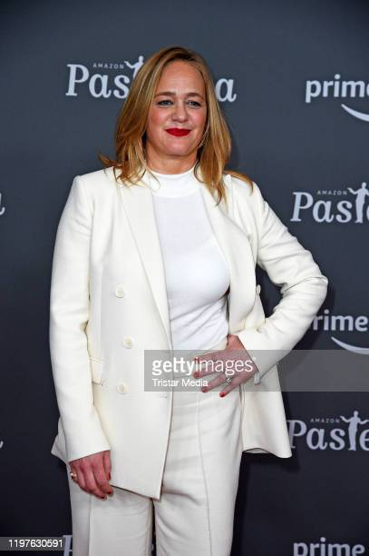 """Sonsee Neu attends the premiere of the 10th season """"Pastewka"""" at Zoo Palast on January 30, 2020 in Berlin, Germany."""