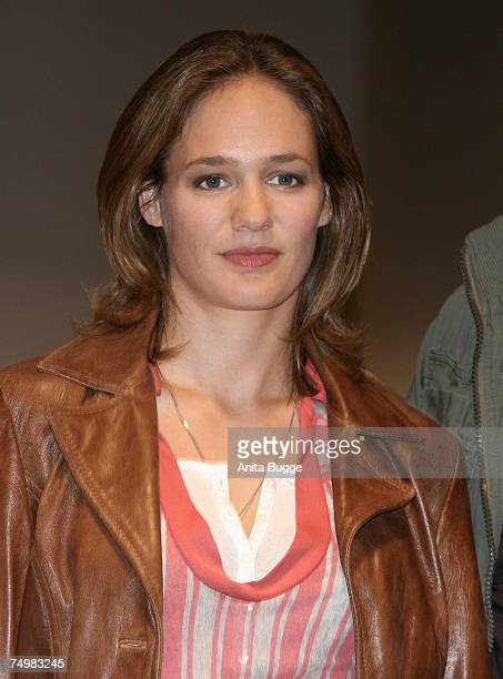 """Sonsee Neu poses at the launch of the new Sat.1 Mystery series """"Deadline"""" on July 2, 2007 in Berlin, Germany."""