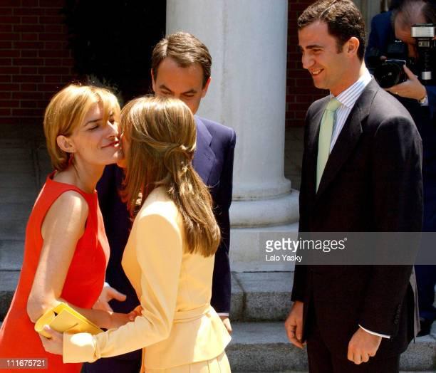 Sonsoles Espinosa Jose Luis Rodriguez Zapatero Letizia Ortiz and Crown Prince Felipe