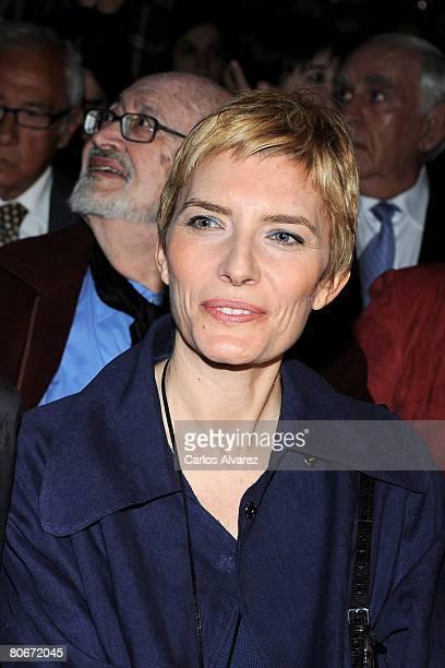 Sonsoles Espinosa wife of Spanish Prime Minister Jose Luis Rodriguez Zapatero attends Rafael Azcona Homage at Circulo de Bellas Artes on April 14...