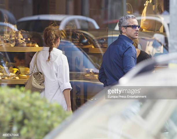 Sonsoles Suarez and Javier Suarez are seen on July 16 2014 in Madrid Spain