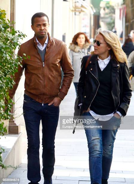 Sonsoles Suarez and Paulo Wilson are seen on February 21 2018 in Madrid Spain