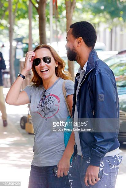 Sonsoles Suarez and Paulo Wilson are seen on May 5 2014 in Madrid Spain