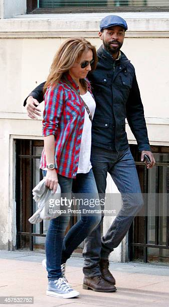 Sonsoles Suarez and Paulo Wilson are seen on October 17 2014 in Madrid Spain