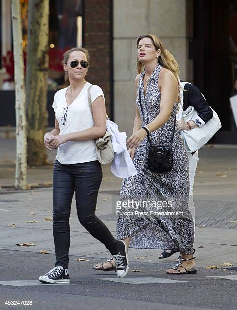 Sonsoles Suarez and Tatiana Von Breisky are seen on July 16 2014 in Madrid Spain