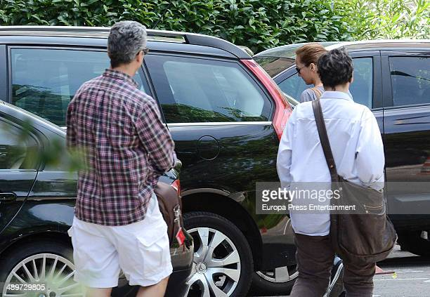 Sonsoles Suarez is seen going to hospital to visit Adolfo Suarez Illana on May 9 2014 in Madrid Spain