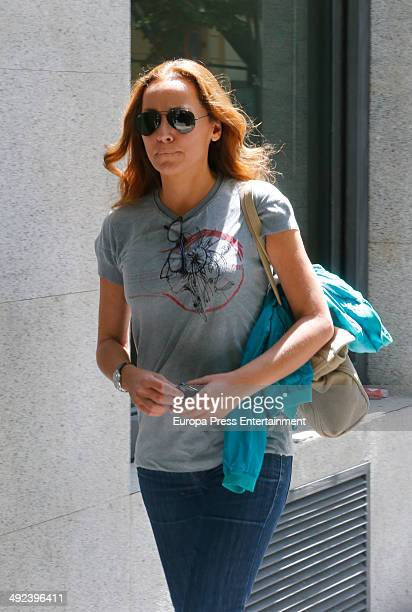 Sonsoles Suarez is seen on May 5 2014 in Madrid Spain