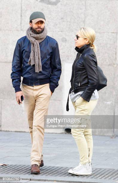 Sonsoles Suarez Paulo Wilson are seen on January 8 2018 in Madrid Spain