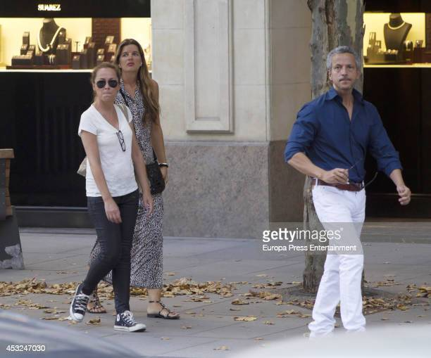 Sonsoles Suarez Tatiana Von Breisky and Javier Suarez are seen on July 16 2014 in Madrid Spain