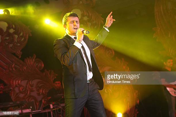 Sonu Nigam Performs During Annaprashan Ceremony Of Subrata Roys Granddaughter Roshna On March 20 2013 In