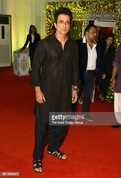 Sonu Sood attends the Iftar party hosted by Congress leader Baba Siddique in Mumbai