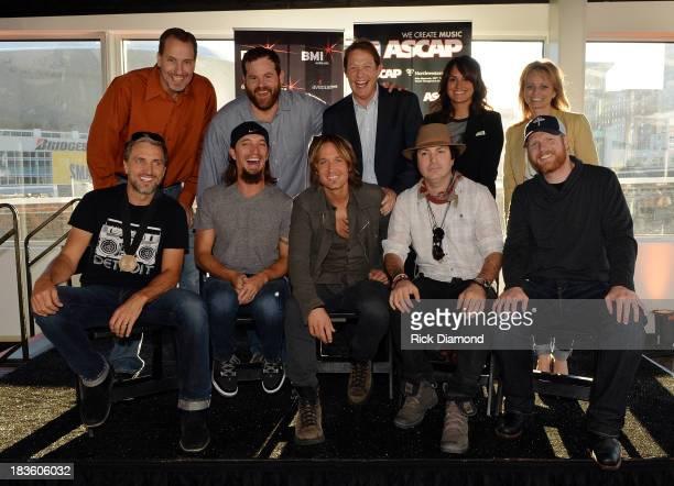 Sony ATV Music Publishing's Tom Luteran Capitol Nashville's Royce Risser BMI's Clay Bradley ASCAP's LeAnn Phelan ASCAP's Kele Currier Cowriters Brett...