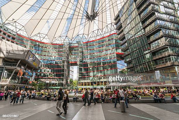 sony center, berlin, germany - sony center berlin stock pictures, royalty-free photos & images