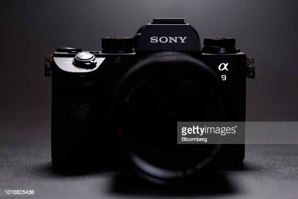 A Sony Corp Alpha a9 mirrorless digital camera is arranged for a photograph in Kawasaki Kanagawa Prefecture Japan on Tuesday Aug 6 2018 The Alphas...