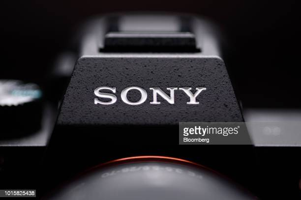 A Sony Corp logo is displayed on the company's Alpha a7 III mirrorless digital camera in an arranged photograph taken in Kawasaki Kanagawa Prefecture...