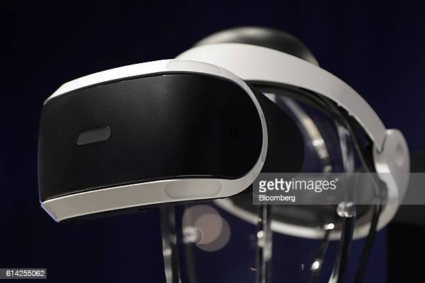 A Sony Corp PlayStation VR headset sits on display during a launch event in Tokyo Japan on Thursday Oct 13 2016 The PlayStation VR goes on sale today...
