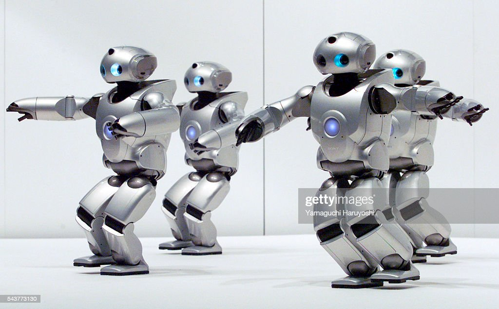 Sony Corp 's small biped humanoid robot SDR-4X performs