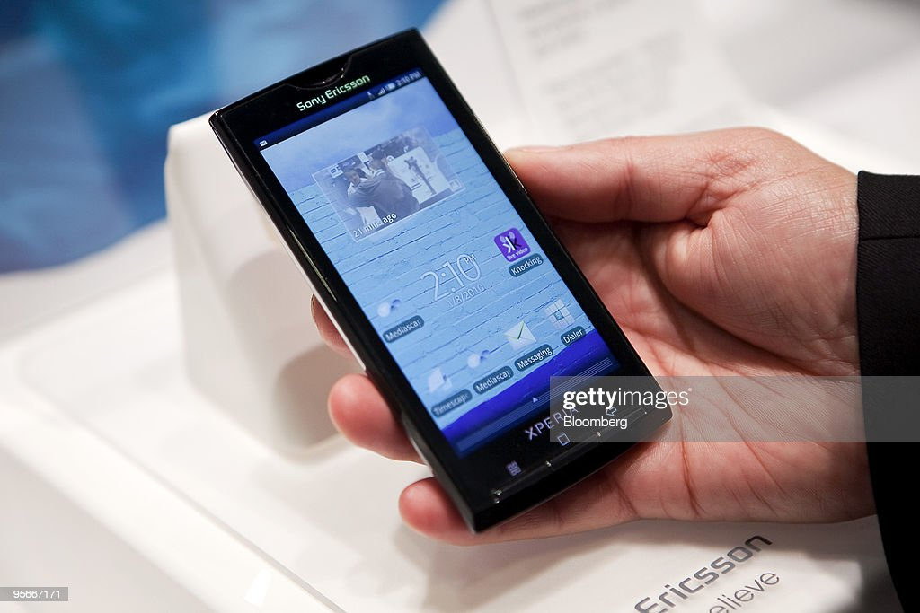 Sony Ericsson Mobile Communications Ltd.'s Xperia X10, the company's first Google Android phone, is used by an attendee during the 2010 International Consumer Electronics Show (CES) in Las Vegas, Nevada, U.S., on Friday, Jan. 8, 2010. 20,000 new technologies will debut at CES, which runs through Jan. 11 and is expected to see at least 113,000 attendees and 2,500 exhibitors, the Consumer Electronics Association said. Photographer: Daniel Acker/Bloomberg via Getty Images