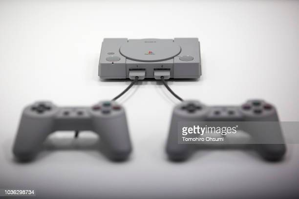 Sony Interactive Entertainment's PlayStation Classic video game consoles is displayed during the Tokyo Game Show 2018 on September 20, 2018 in Chiba,...