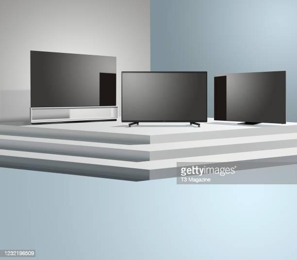 Sony KD-85ZG9 and Samsung QE75Q950TS, taken on April 28, 2020.