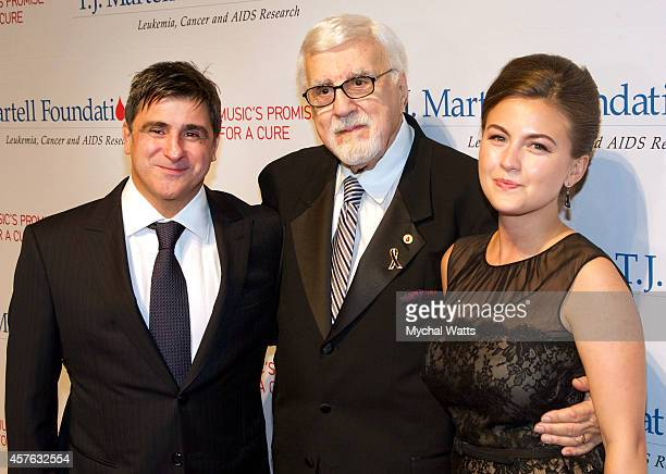 Sony Latin CEO Afo Verde Tony Martell and Ursula Damani attends the 2014 TJ Martell Honors Gala New York at Cipriani 42nd Street on October 21 2014...