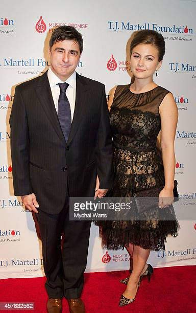 Sony Latin Region CEO Afo Verde and Wife Ursula Damani attends the 2014 TJ Martell Honors Gala New York at Cipriani 42nd Street on October 21 2014 in...