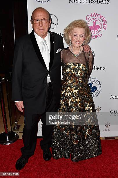 Sony Music Entertainment Chief Creative Officer Clive Davis and Carousel of Hope Chairman Barbara Davis attend the 2014 Carousel of Hope Ball...