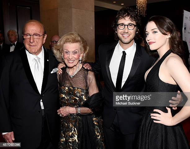 Sony Music Entertainment Chief Creative Officer Clive Davis Carousel of Hope Chairman Barbara Davis recording artist Josh Groban and actress Kat...