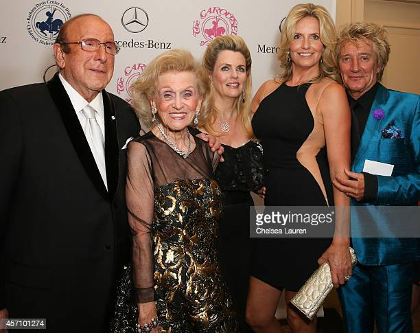 Sony Music Entertainment Chief Creative Officer Clive Davis Carousel of Hope Chairman Barbara Davis Nancy Davis model Penny Lancaster and recording...