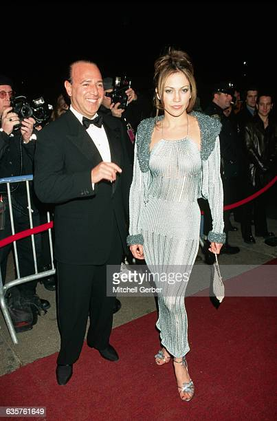 Sony Music executive Tommy Mottola and actress Jennifer Lopez at the Hammerstein Ballroom for the Sony Records' Grammy party