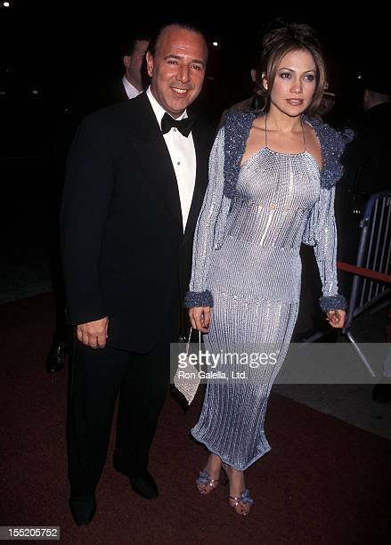 Sony Music executive Tommy Mottola and actress Jennifer Lopez attend the 40th Annual Grammy Awards After Party on February 26 1998 at Manhattan...