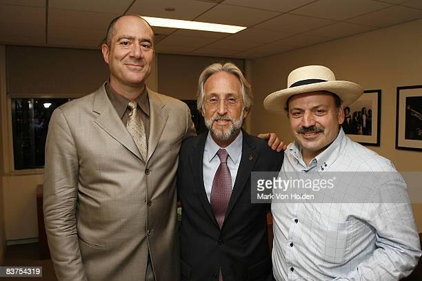 Sony Music Producer Leo Sacks Recording Academy President/CEO Neil Portnow and Late night with Conan O'Brian musical Artist Richie 'La Bamba'...