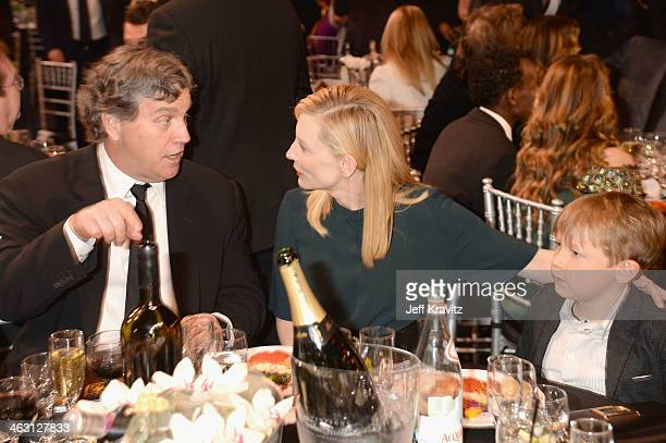 Sony Pictures Classics CoPresident and CoFounder Tom Bernard actress Cate Blanchett and son Ignatius Martin Upton attend the 19th Annual Critics'...