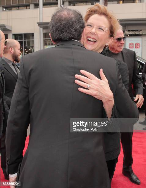 """Sony Pictures Classics Co-President Michael Barker and Annette Bening attend the screening of """"Film Stars Don't Die In Liverpool"""" at AFI FEST 2017..."""