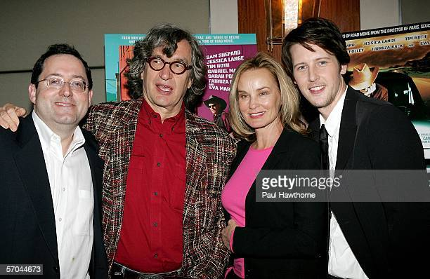 Sony Pictures Classics copresident Michael Barker director Wim Wenders actress Jessica Lange and actor Gabriel Mann attend the New York premiere of...