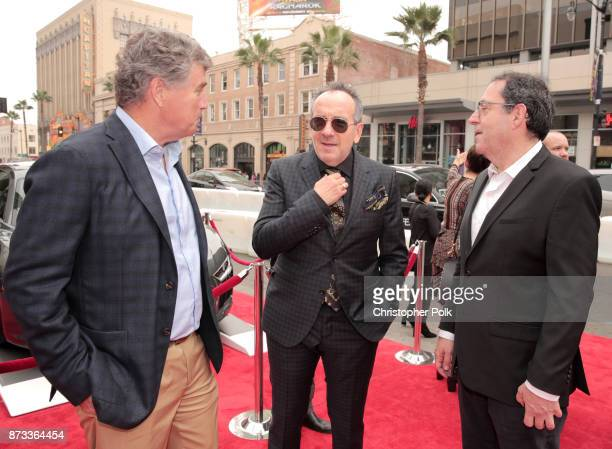 """Sony Pictures Classics Co-President Tom Bernard, Elvis Costello, and Sony Pictures Classics Co-President Michael Barker attend the screening of """"Film..."""