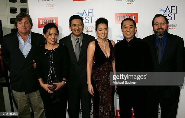 Sony Pictures Classics coPresident Tom Bernard Jasmine Chow actor Chow Yun Fat actress Gong Li director Zhang Yimou and Sony Pictures Classics...