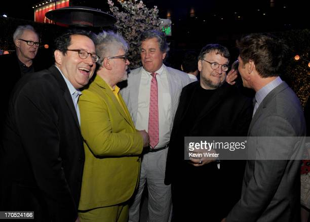 Sony Pictures CoFounder and CoPresident Michael Barker director Pedro Almodovar Sony Pictures CoFounder and CoPresident Tom Bernard director...