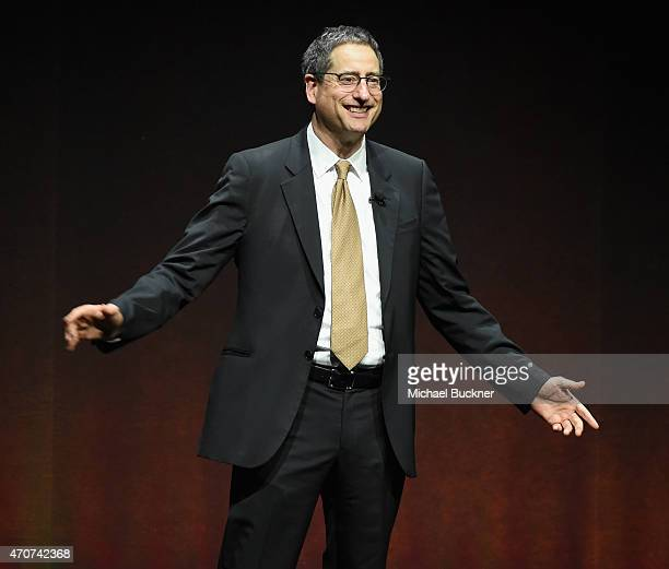 Sony Pictures Entertainment Chairman Tom Rothman speaks onstage at Sony Pictures Entertainment Invites You to an Exclusive Product Presentation...
