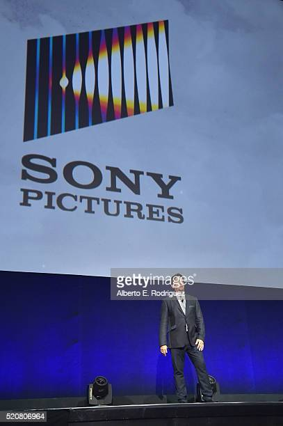 Sony Pictures Entertainment President of Worldwide Distribution Rory Bruer speaks onstage during CinemaCon 2016 An Evening with Sony Pictures...