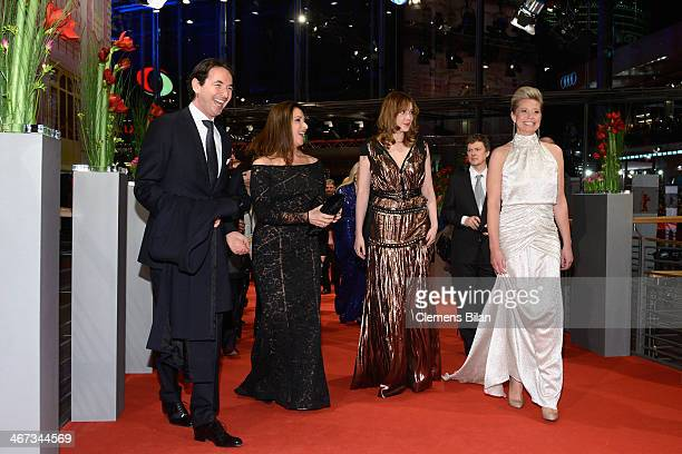 Sony Pictures Germany Martin Bachmann and jury members Barbara Broccoli Greta Gerwig and Trine Dyrholm attend 'The Grand Budapest Hotel' Premiere...