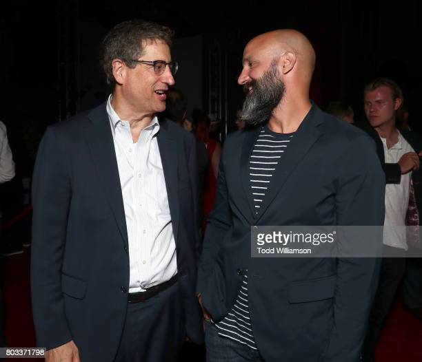 Sony Pictures Motion Picture Group Chairman Tom Rothman and Amazon Studios' Worldwide Head of Motion Pictures Jason Ropell attend the after party for...