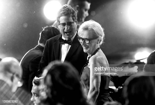 Sony Pictures Motion Picture Group Chairman Tom Rothman and Meryl Streep attend the 26th Annual Screen ActorsGuild Awards at The Shrine Auditorium...